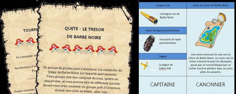 Bien connu L'île aux pirates - grand jeu pour anniversaire JH39