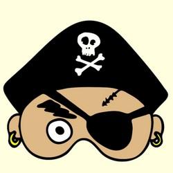 masque pirate à imprimer