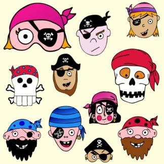 masques de pirate