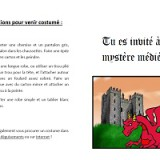 invitation médiévale