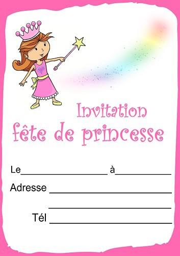 invitation princesse