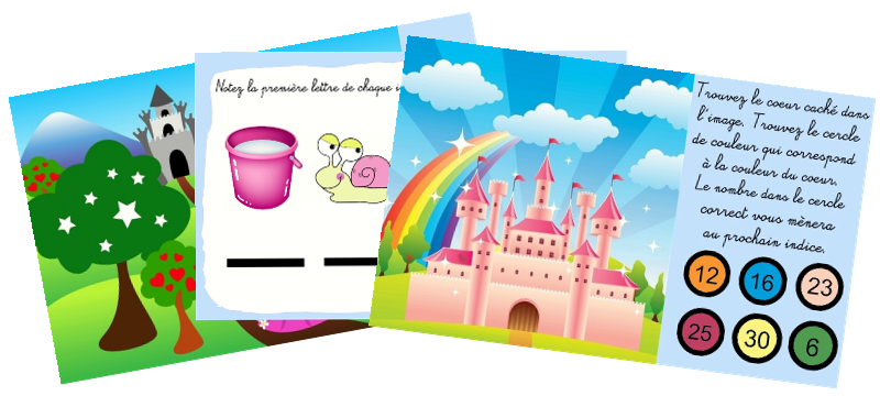 Bevorzugt Chasse au trésor princesse à imprimer : Princesse Célia JD97