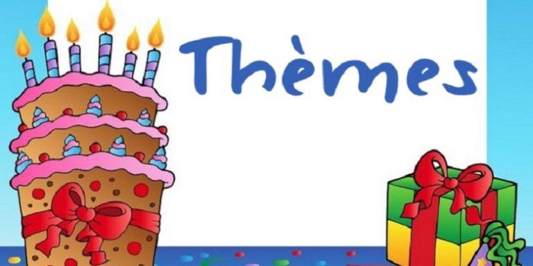 Thèmes intéressants pour les fêtes d'anniversaire enfant