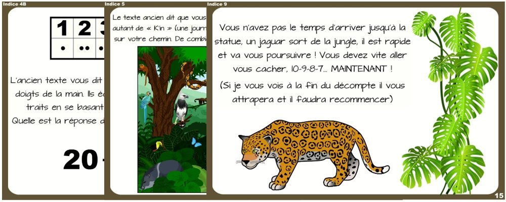 chasse au tresor jungle