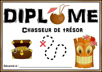 diplome chasse tresor plage