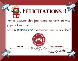 diplome jeux video