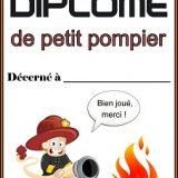 Diplôme pompier