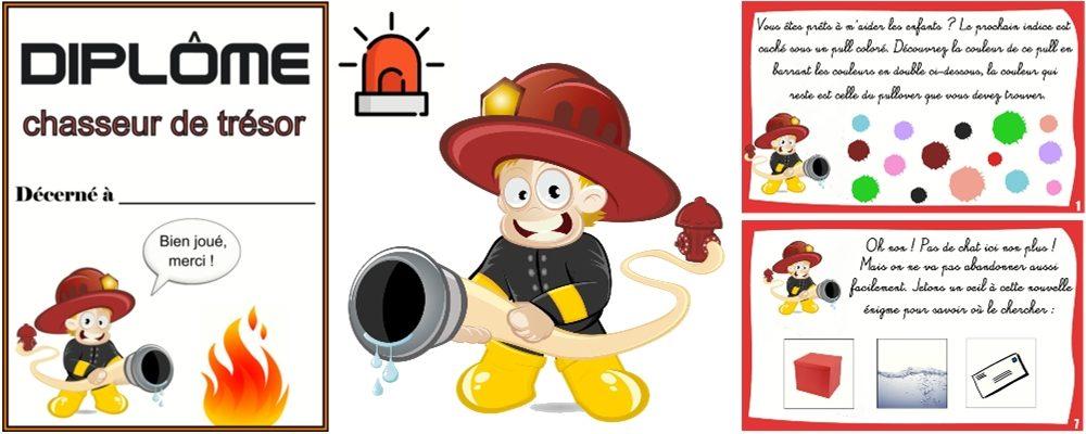 chasse au trésor pompier 3 5 ans