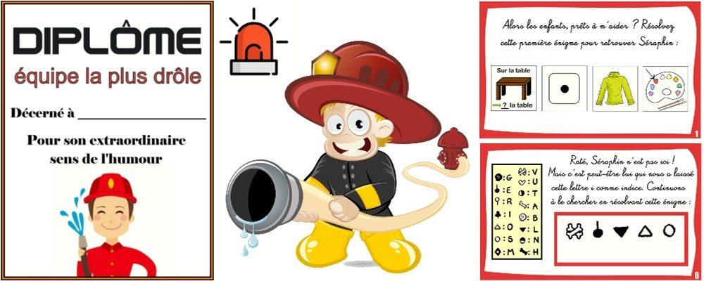 chasse au trésor de pompier