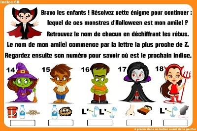 indice chasse halloween 6 8 ans