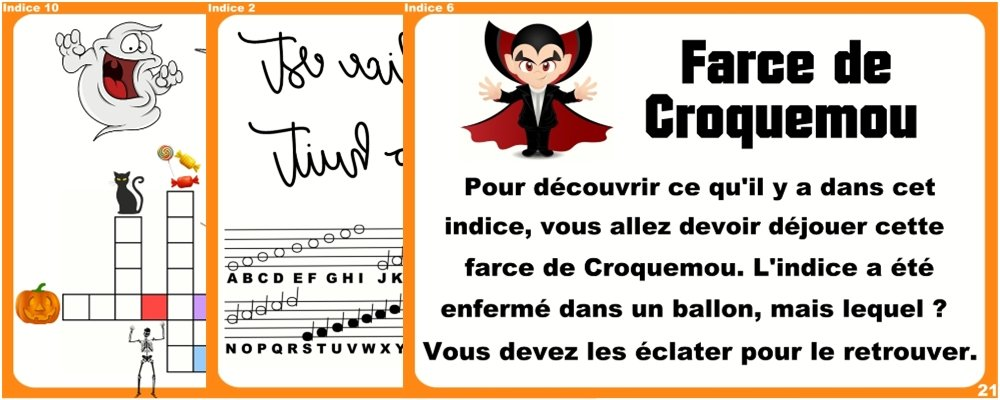 indices chasse halloween 9 12 ans
