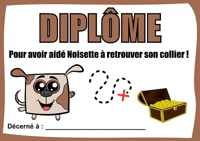 diplome chasse au tresor chien