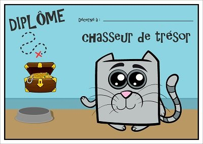 diplome chasse au tresor chat