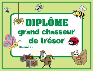 chasse au tresor insecte