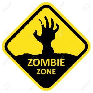 panneau zombie