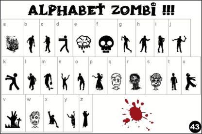 alphabet zombie