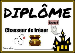 diplome chasse au tresor fantome
