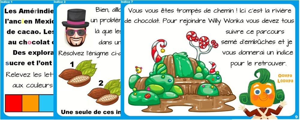 chasse chocolat 6 8 ans