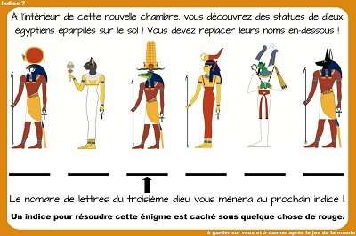 indice chasse au tresor egyptienne
