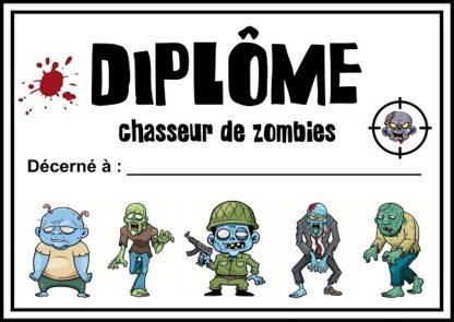 diplome chasseur de zombies