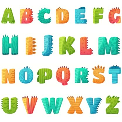 alphabet dinosaure