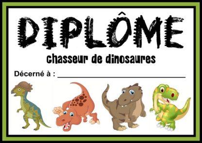 diplome dinosaure
