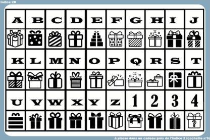 alphabet cadeaux